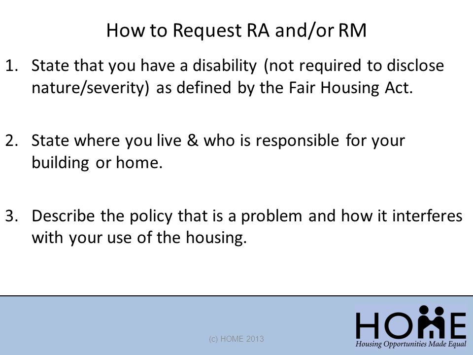 How to Request RA and/or RM