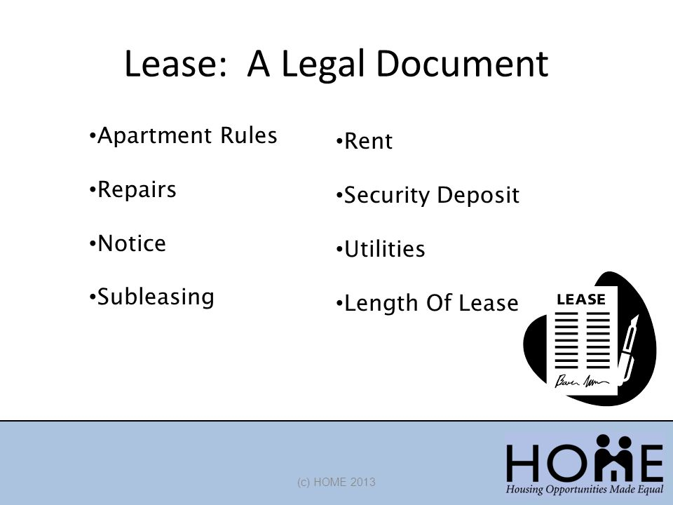Lease: A Legal Document