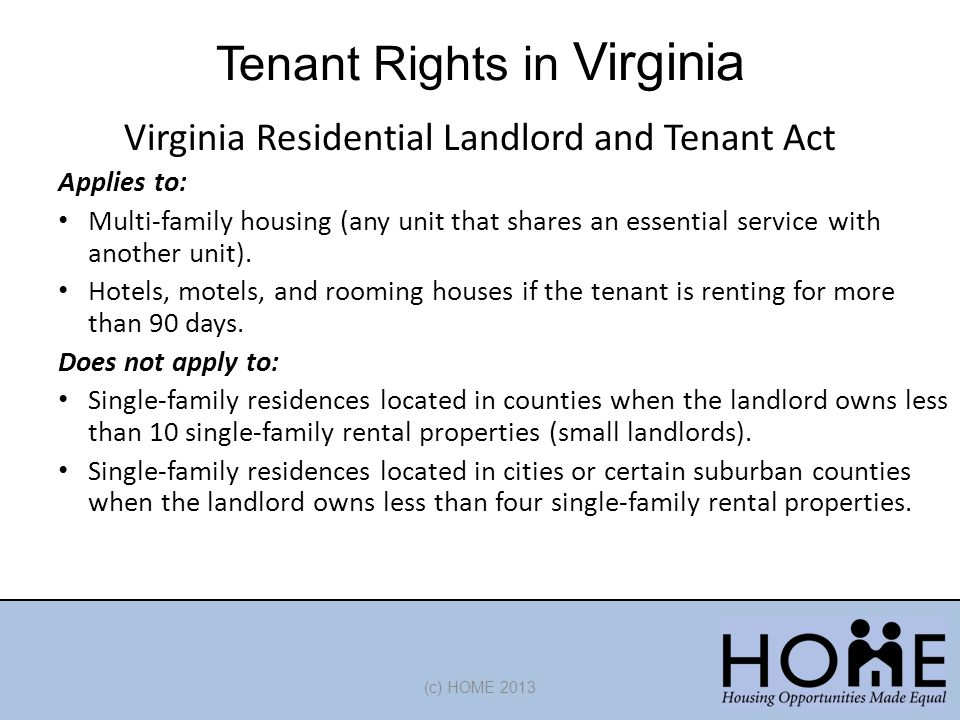 Tenant Rights in Virginia