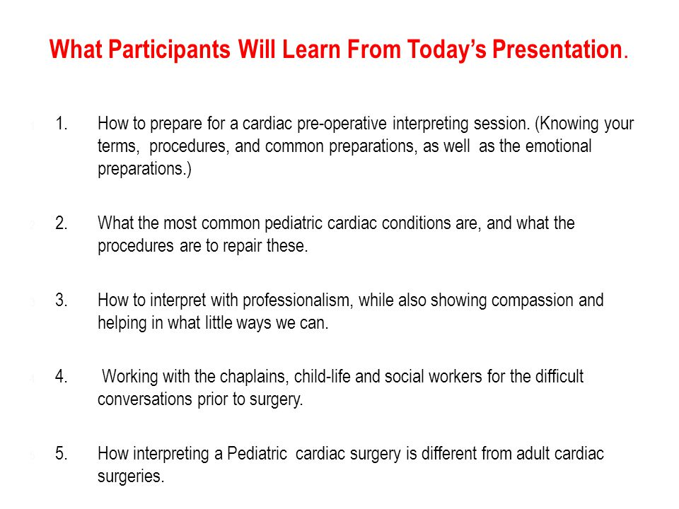 What Participants Will Learn From Today's Presentation.