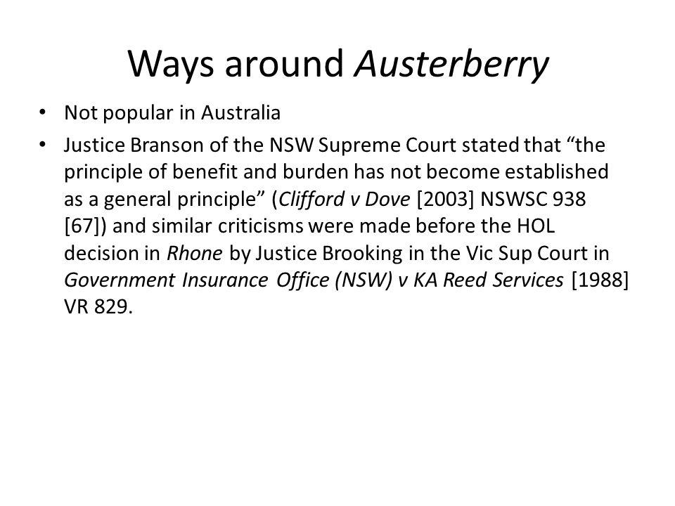 Ways around Austerberry