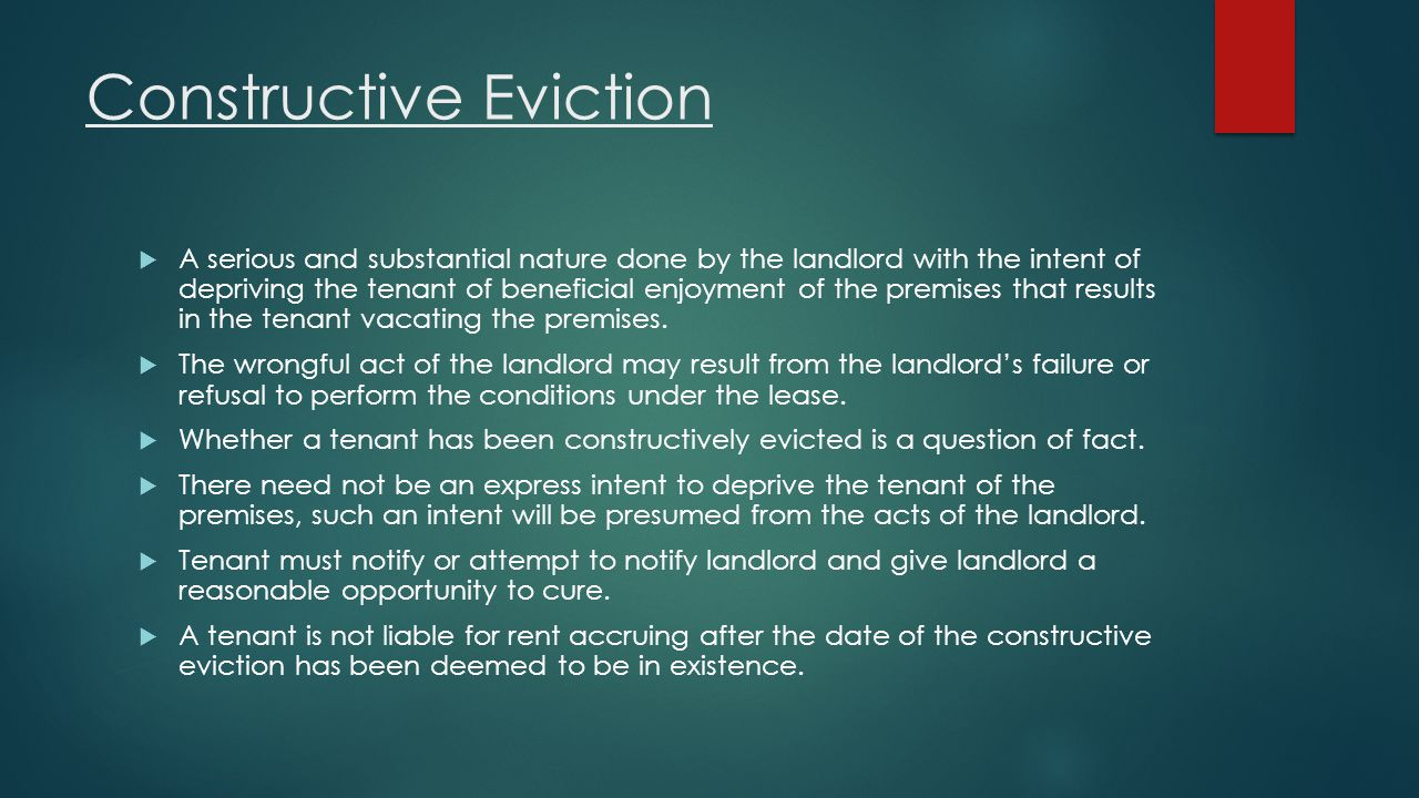 Constructive Eviction