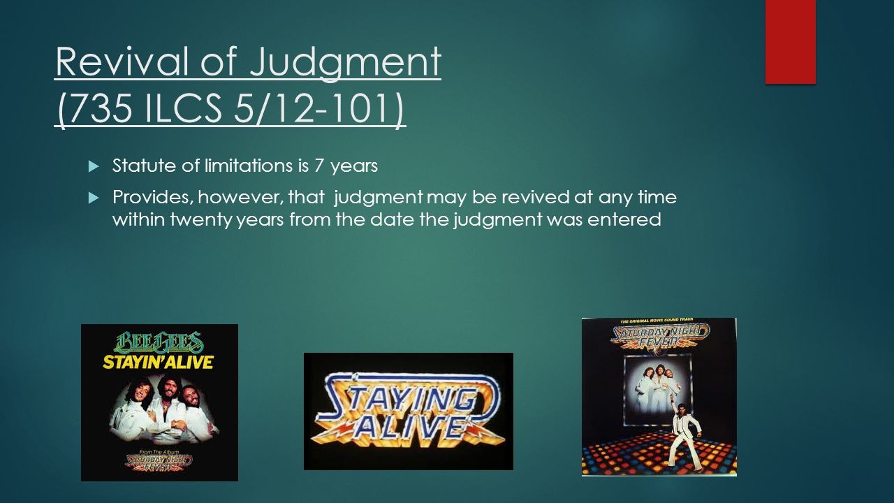 Revival of Judgment (735 ILCS 5/12-101)