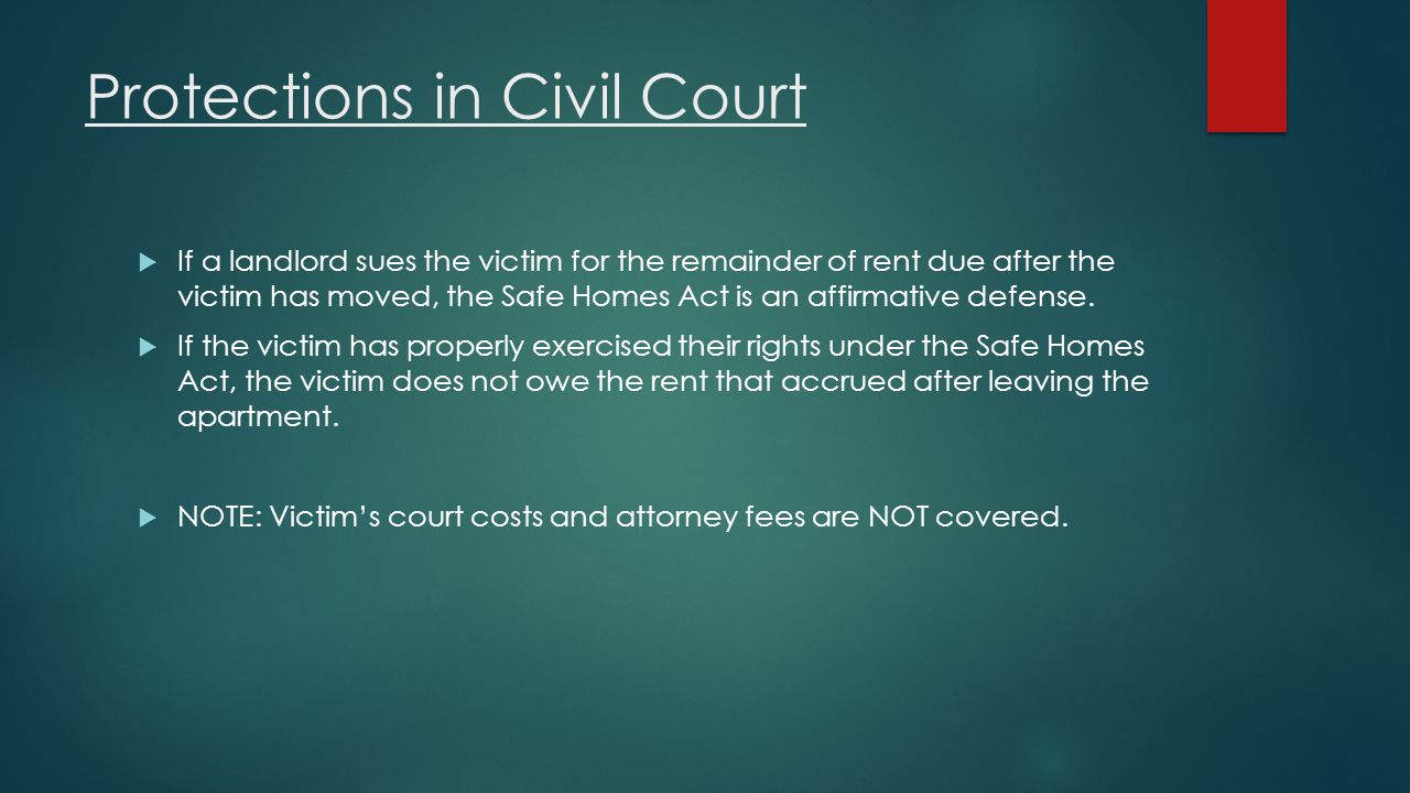Protections in Civil Court