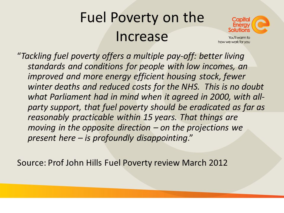 Fuel Poverty on the Increase