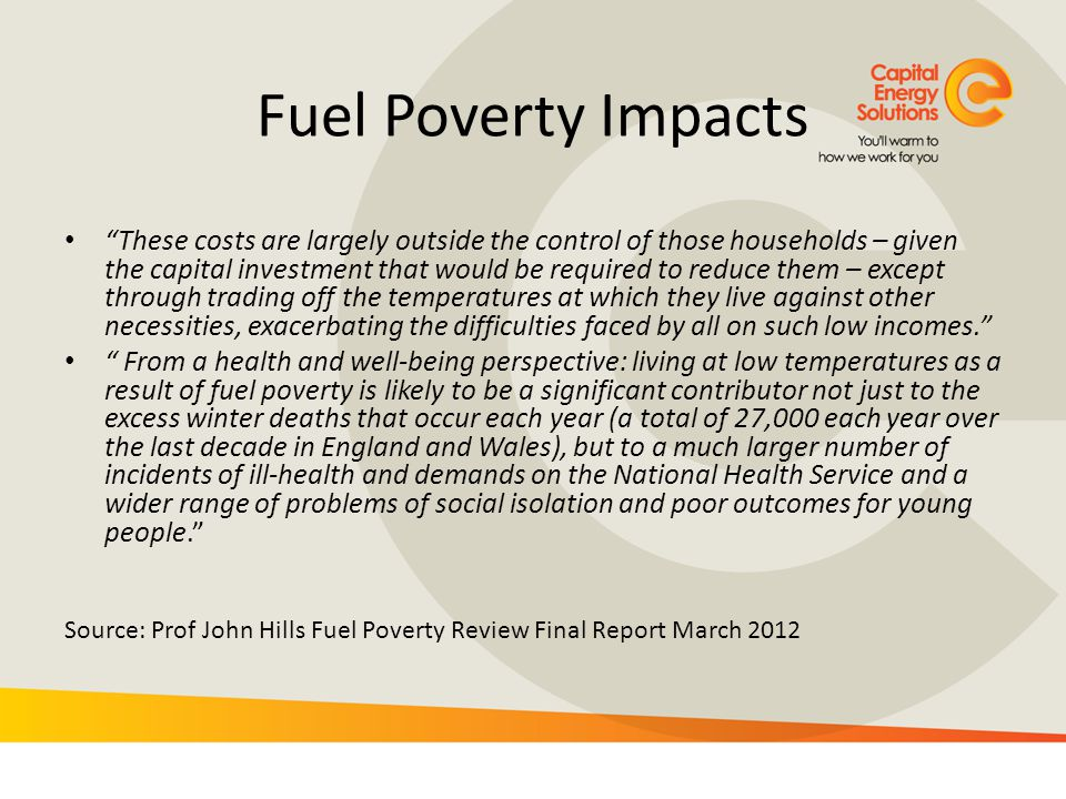 Fuel Poverty Impacts