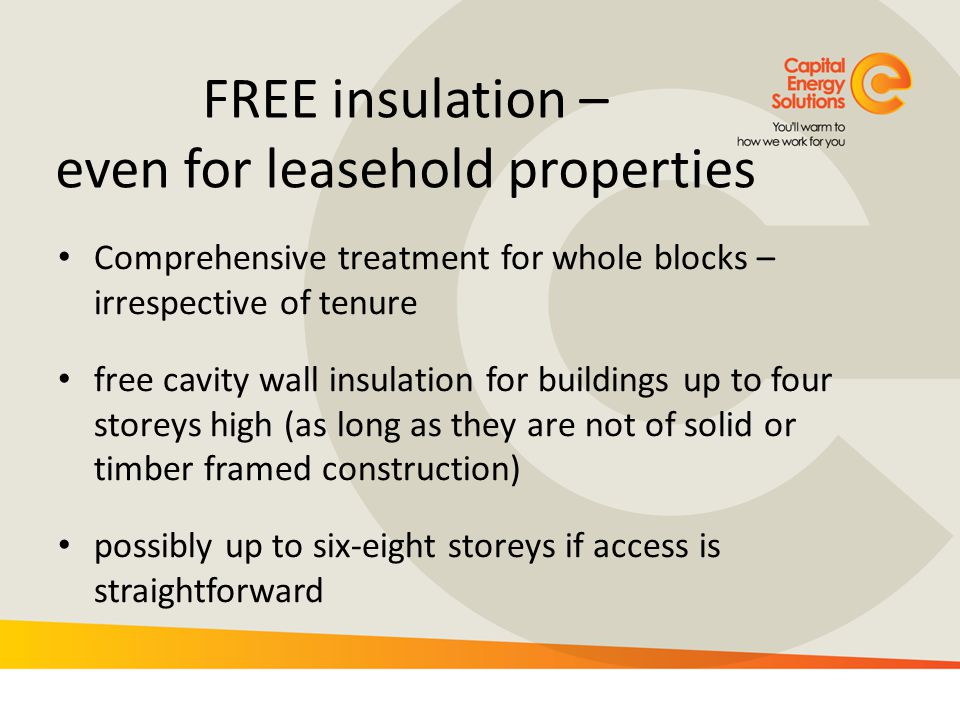 FREE insulation – even for leasehold properties