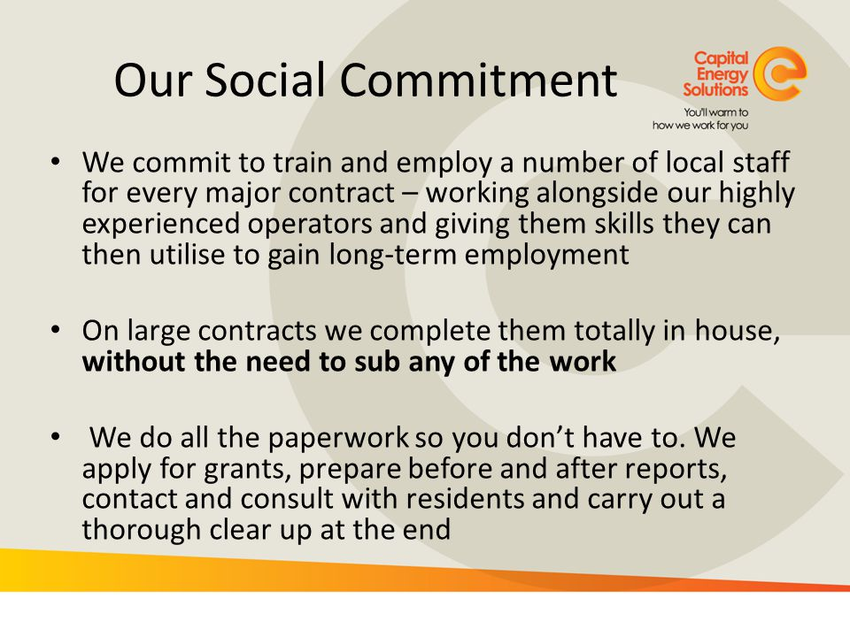 Our Social Commitment