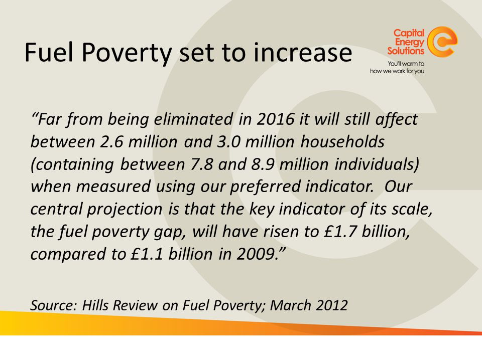 Fuel Poverty set to increase