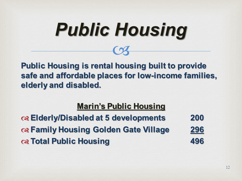 Marin's Public Housing