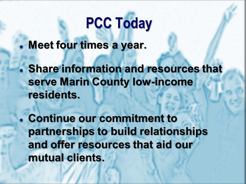 PCC Today Meet four times a year.