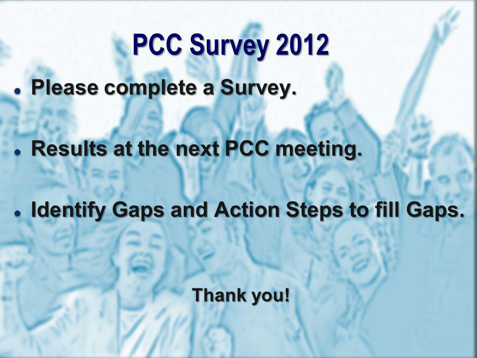PCC Survey 2012 Please complete a Survey.
