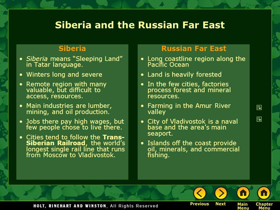 Siberia and the Russian Far East