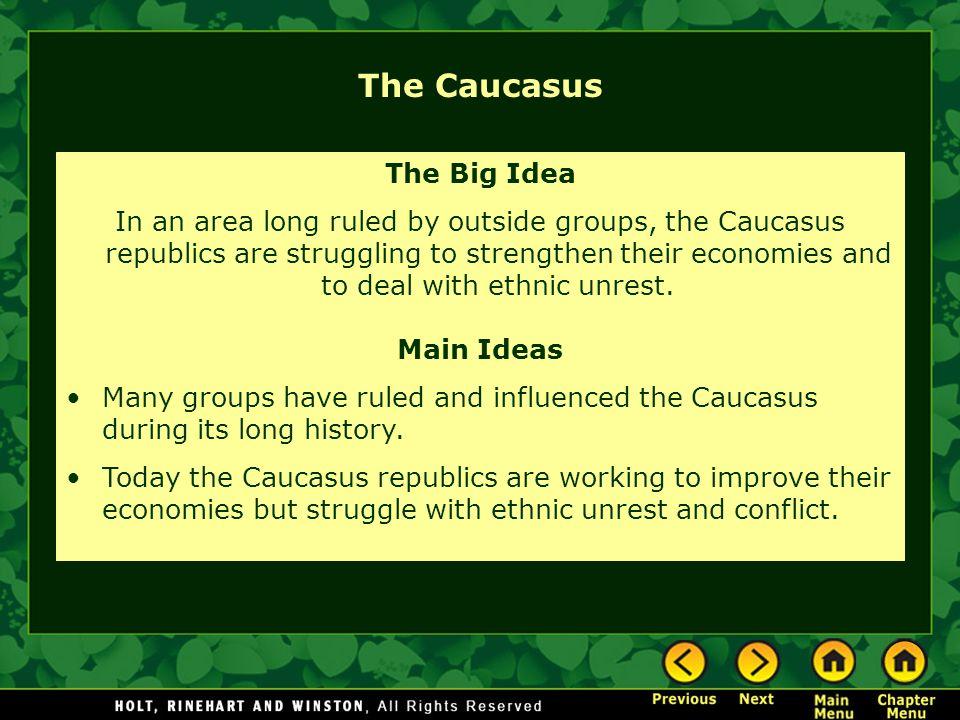 The Caucasus The Big Idea