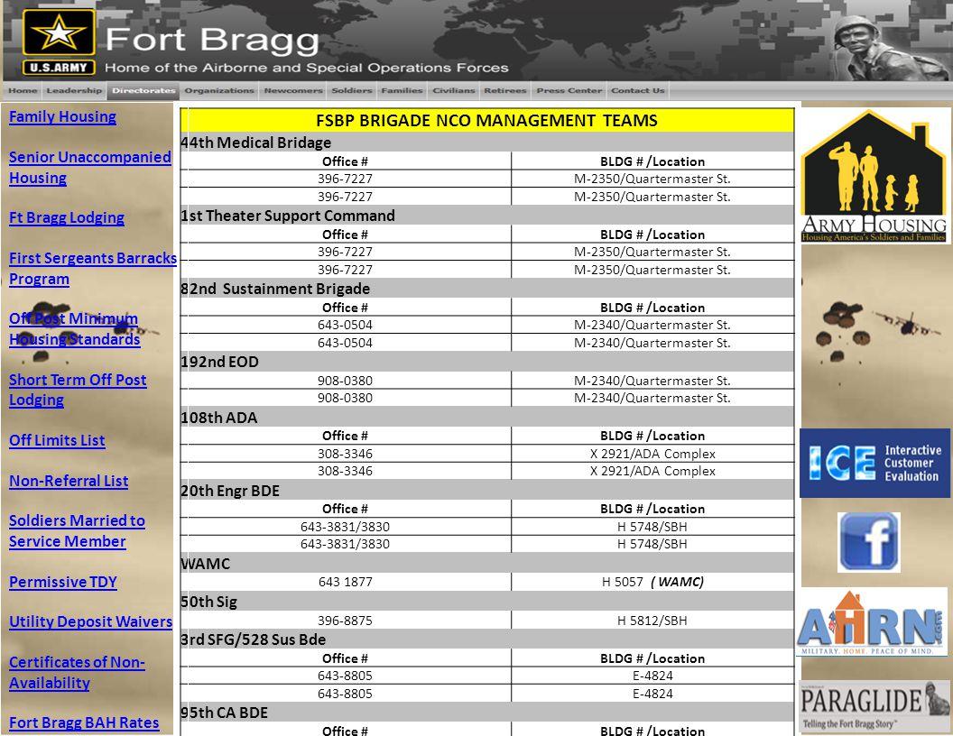 FSBP BRIGADE NCO MANAGEMENT TEAMS