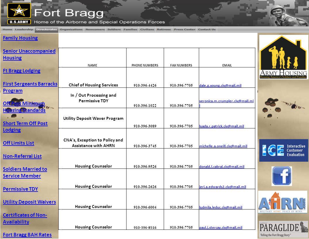 First Sergeants Barracks Program
