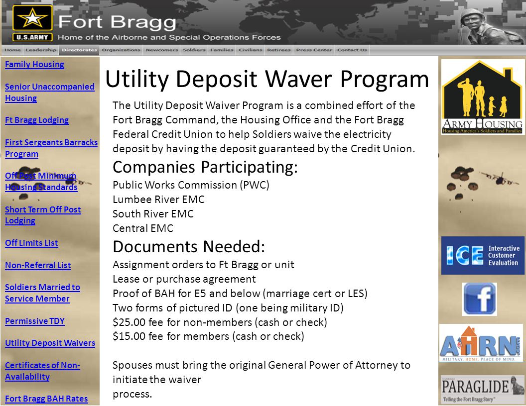 Utility Deposit Waver Program