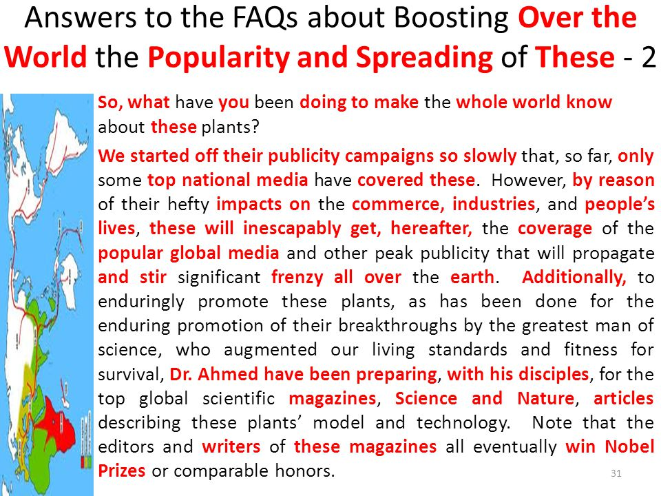Answers to the FAQs about Boosting Over the World the Popularity and Spreading of These - 2