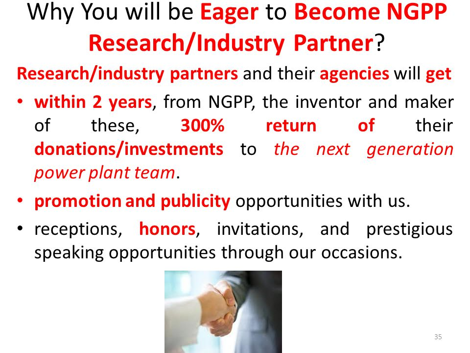 Why You will be Eager to Become NGPP Research/Industry Partner