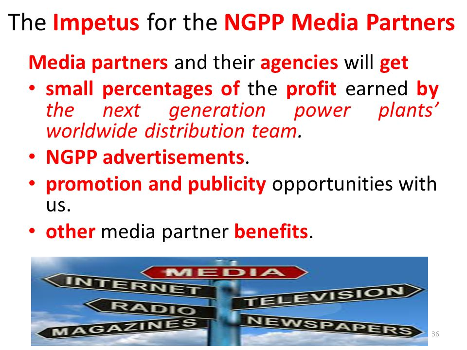 The Impetus for the NGPP Media Partners