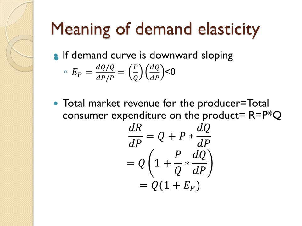 Meaning of demand elasticity