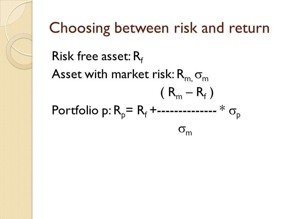 Choosing between risk and return