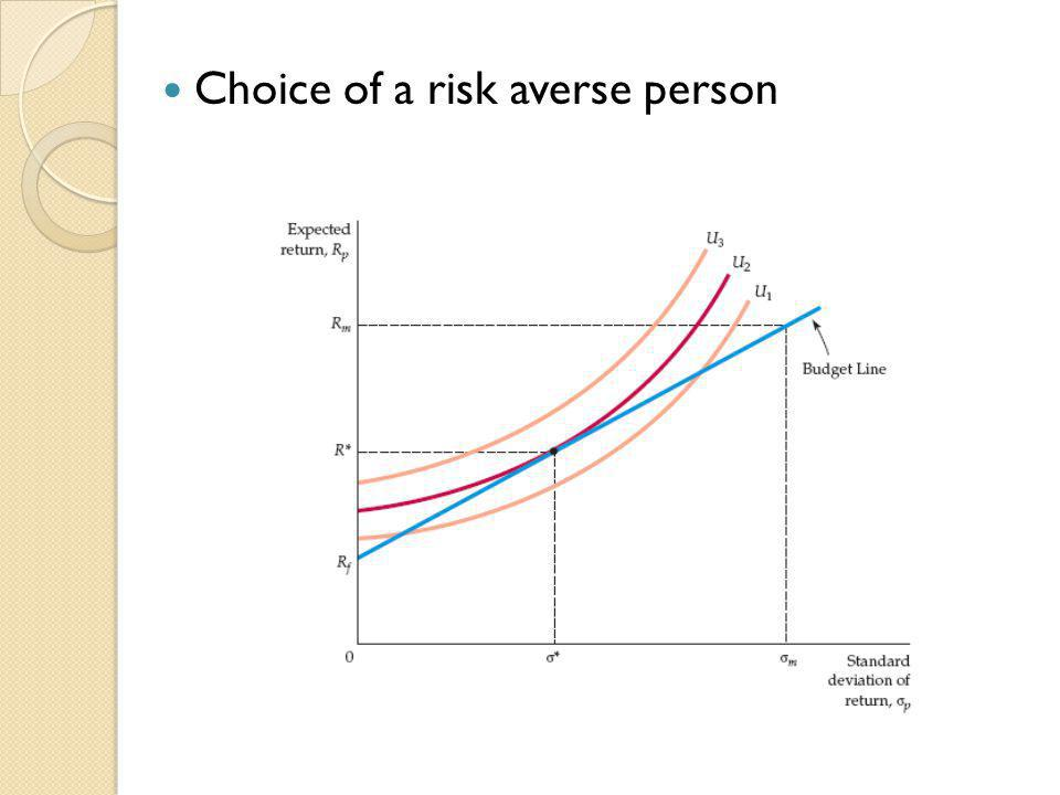 Choice of a risk averse person