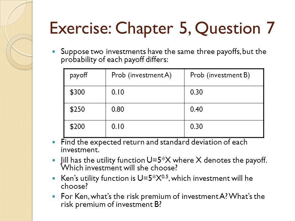 Exercise: Chapter 5, Question 7