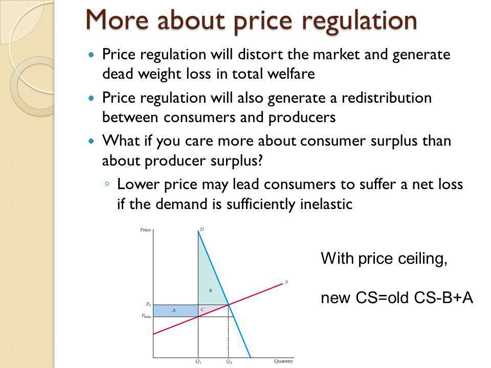 More about price regulation