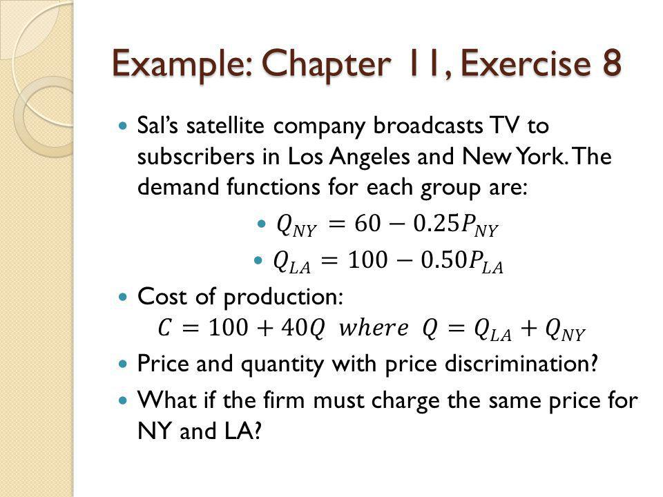 Example: Chapter 11, Exercise 8