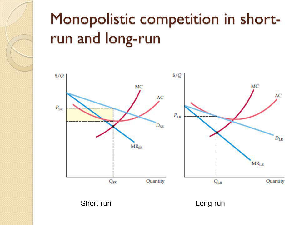 Monopolistic competition in short-run and long-run