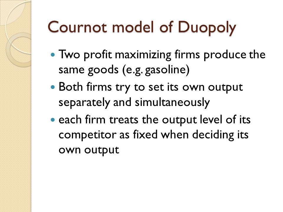 Cournot model of Duopoly
