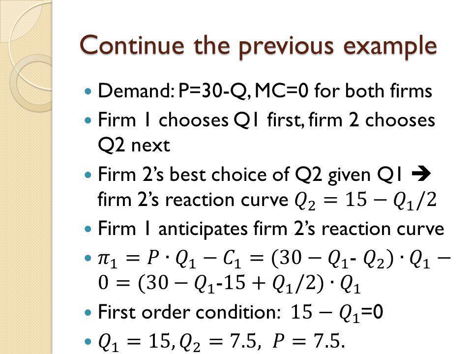 Continue the previous example