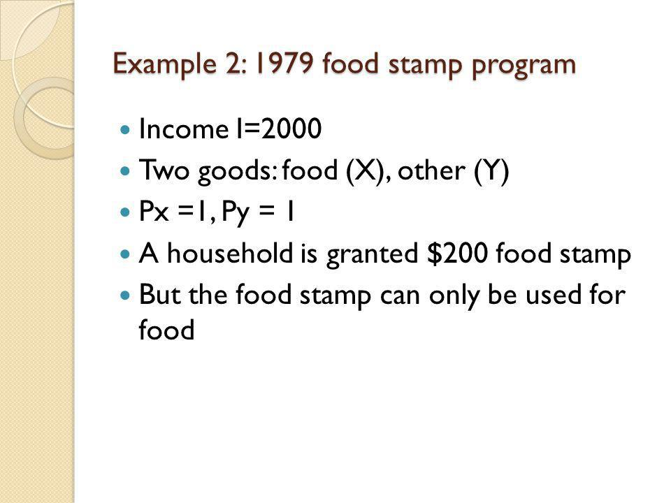 Example 2: 1979 food stamp program