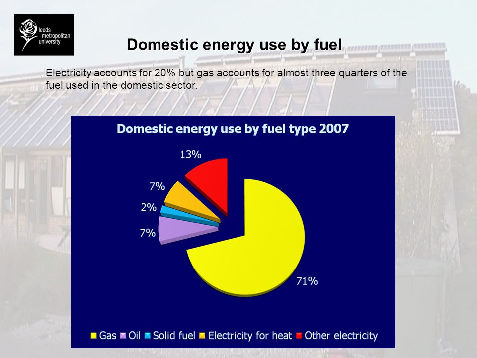 Domestic energy use by fuel