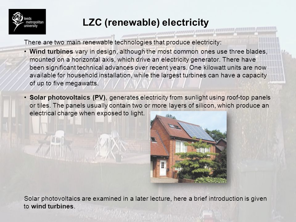 LZC (renewable) electricity