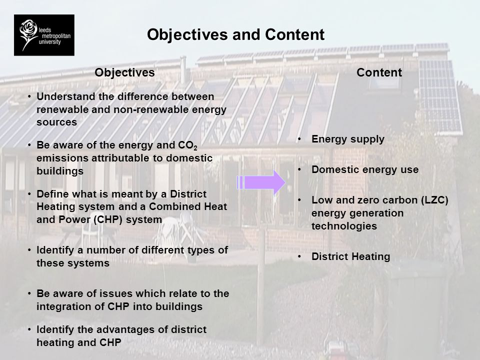 Objectives and Content