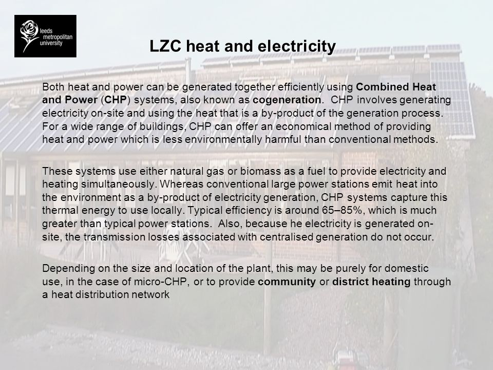 LZC heat and electricity