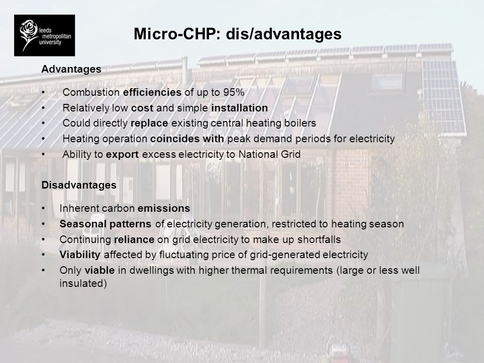 Micro-CHP: dis/advantages