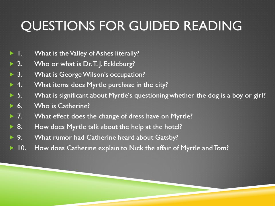 Questions for Guided Reading