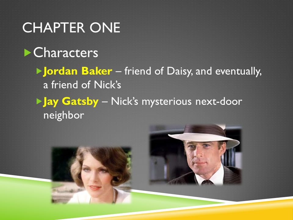 Chapter One Characters