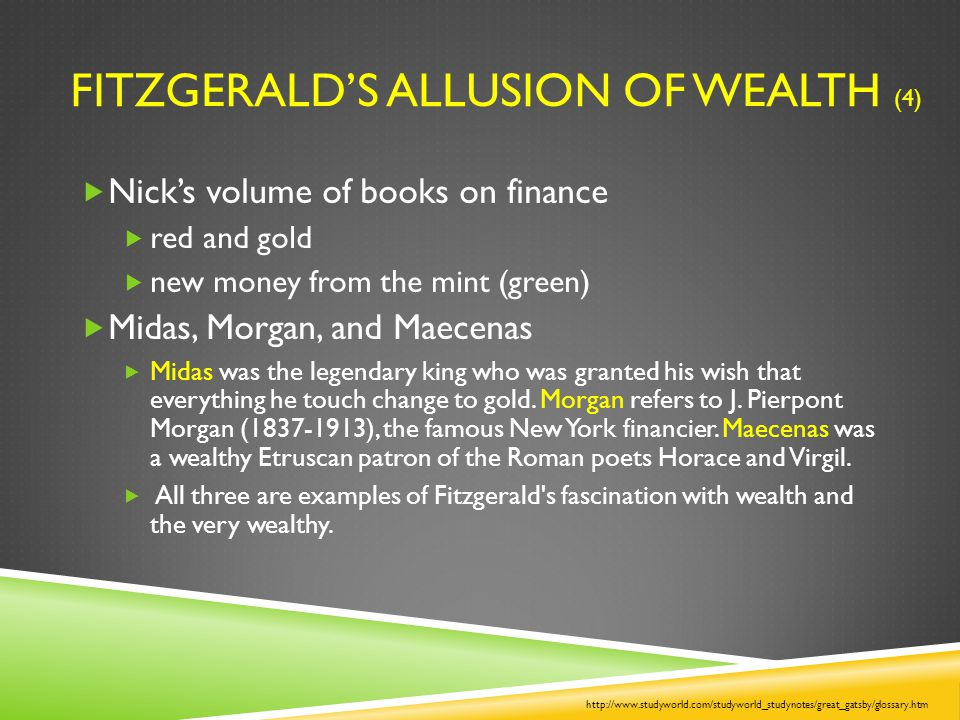 Fitzgerald's Allusion of Wealth (4)