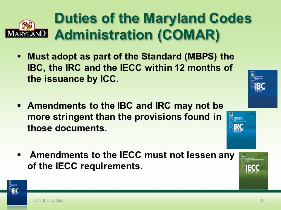 Duties of the Maryland Codes Administration (COMAR)