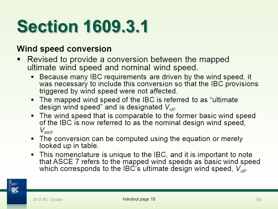 Section 1609.3.1 Wind speed conversion