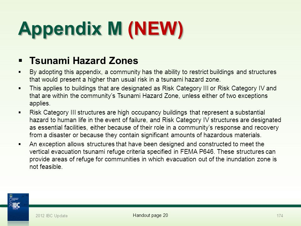 Appendix M (NEW) Tsunami Hazard Zones