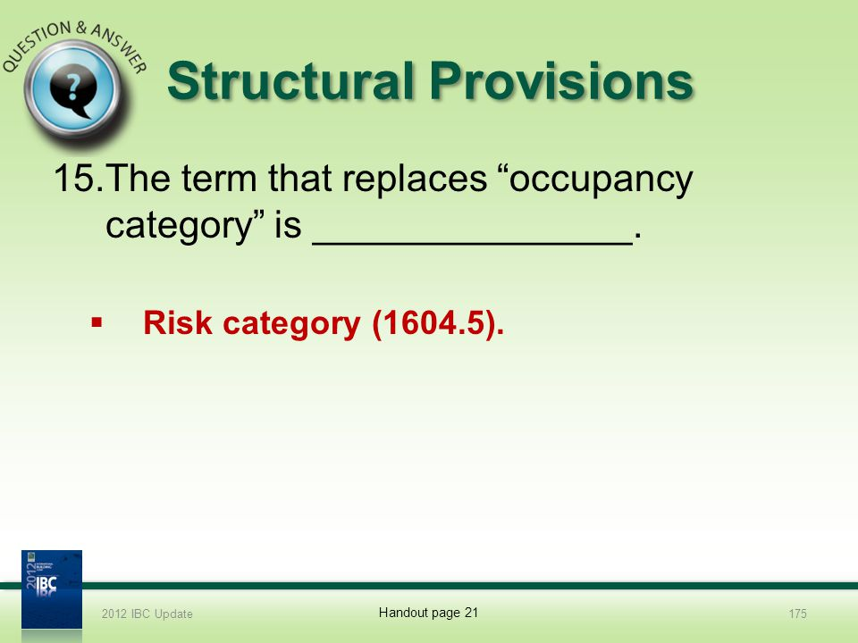 Structural Provisions