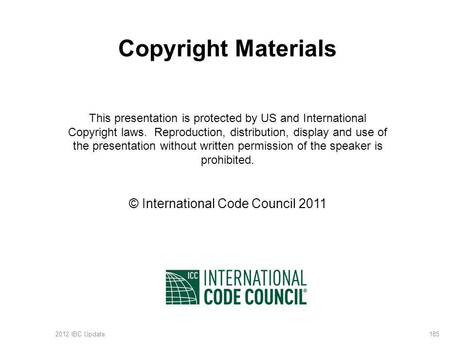 © International Code Council 2011