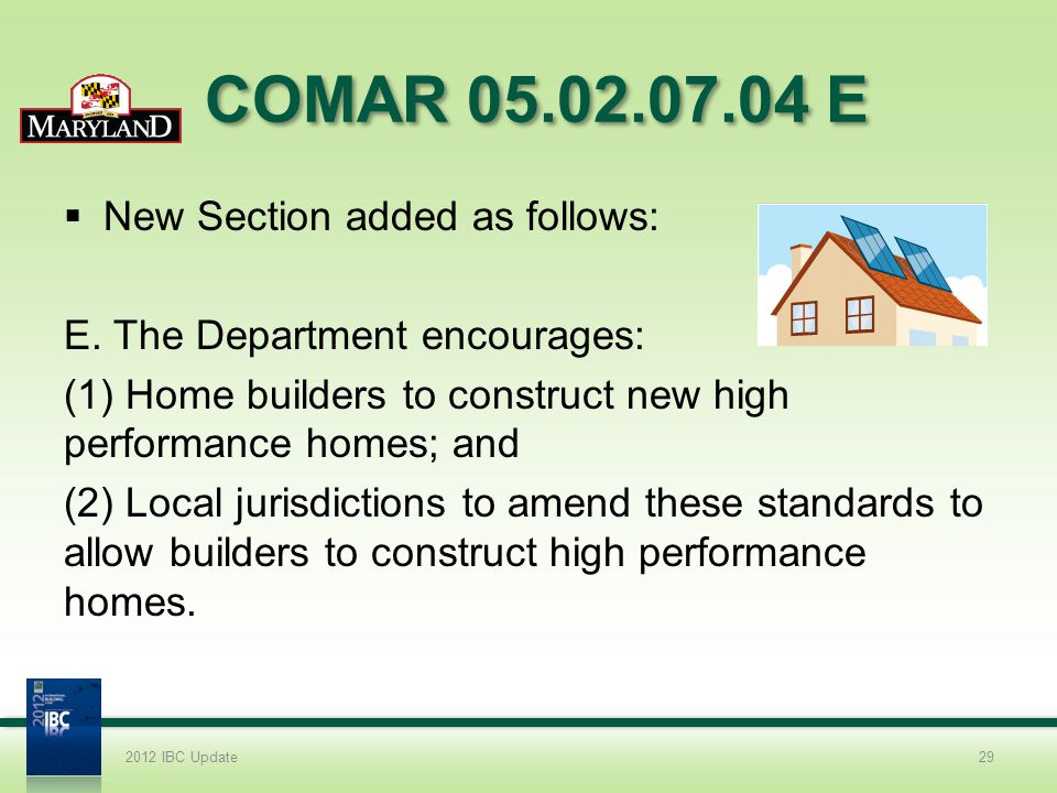 COMAR 05.02.07.04 E New Section added as follows: