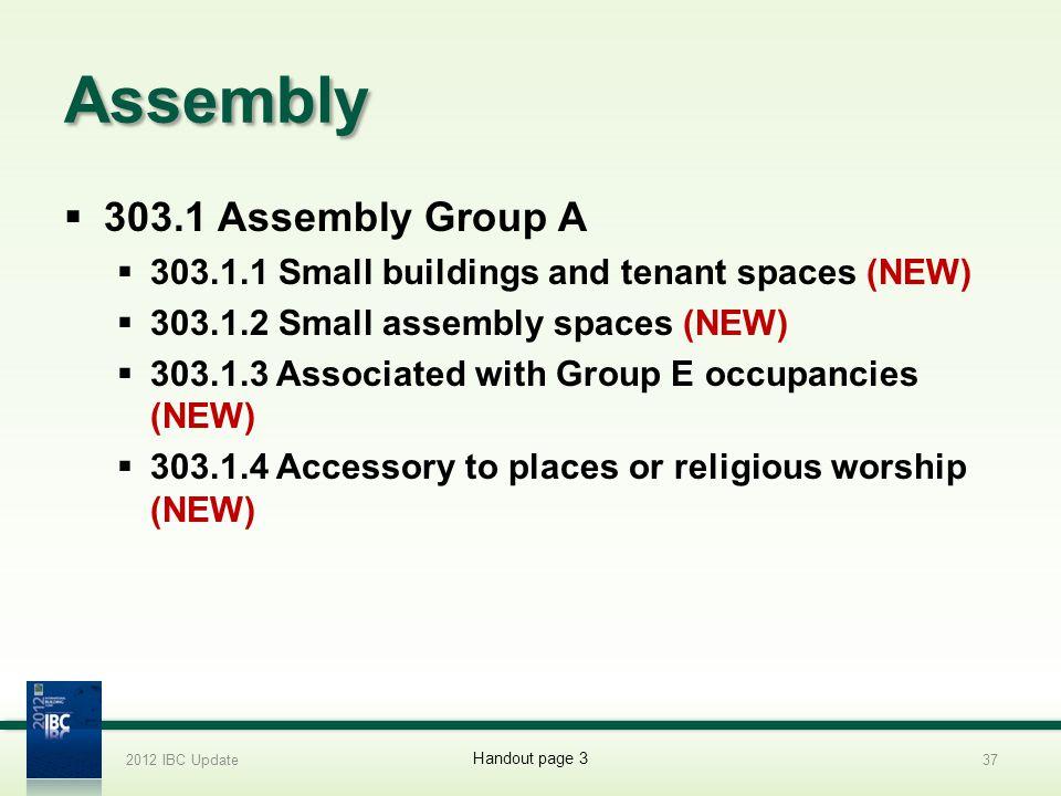 Assembly 303.1 Assembly Group A