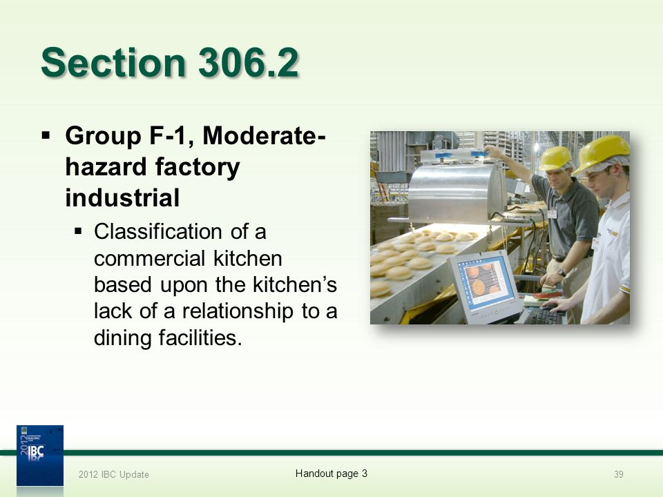 Section 306.2 Group F-1, Moderate-hazard factory industrial